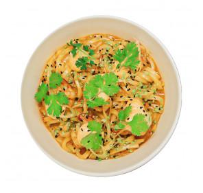 Harissa Shrimp Udon